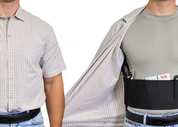man wearing concealed carry vest