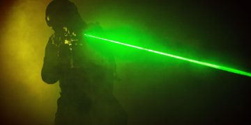 swat in the dark using a laser gun