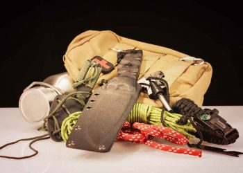 assorted survival gear