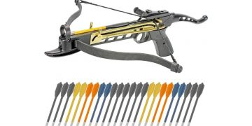 crossbow pistol with arrows