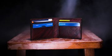 wallet on the table