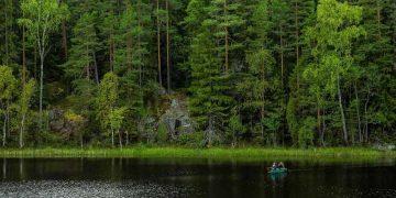 kayaking on a dam